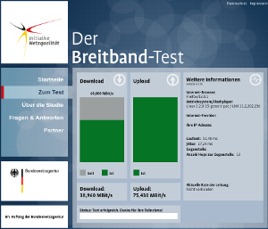 Breitband-Test Screenshot